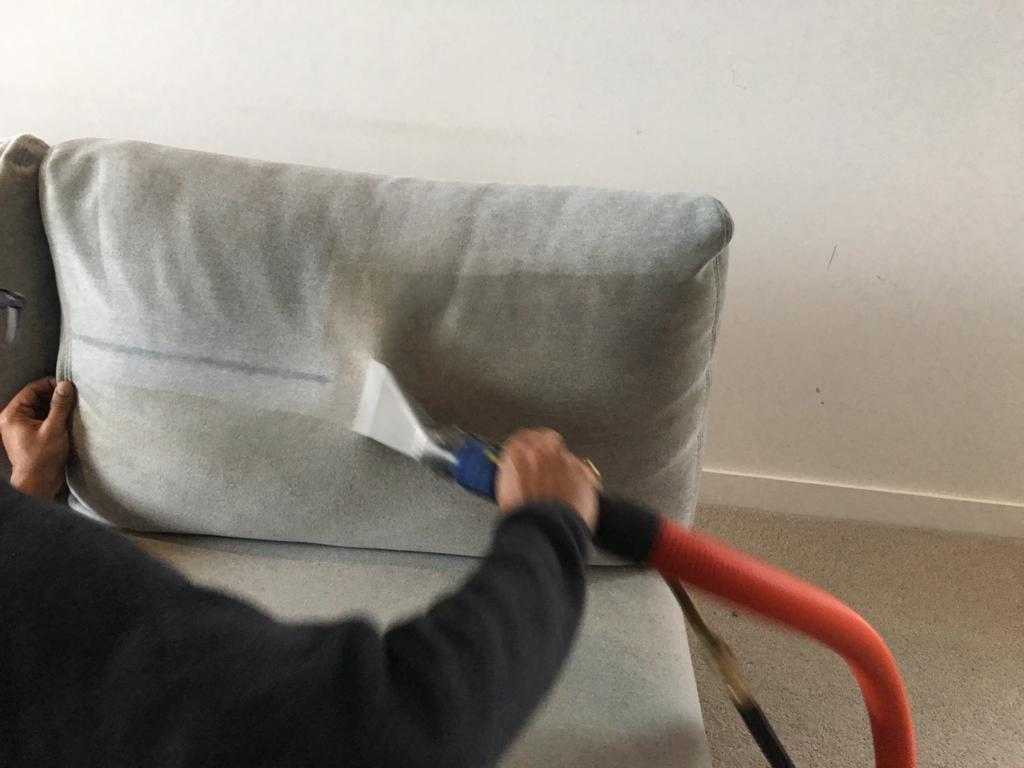 couch steam cleaning at a Melbourne home