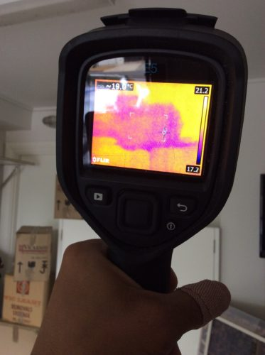 Thermal image of water damaged ceiling 3